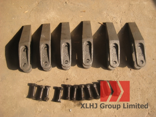 Зубы ковша с болтами для погрузчика XCMG LW300F